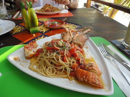 Sabrosa Langosta como solo en Casa Nostra Restaurant saben preparar!!!