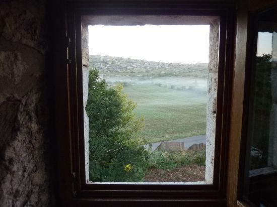 Auberge du Chanet : early morning view out of the window