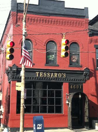 Tessaro's: From the sidewalk.  Smell that grill yet?! Hell yeah you do.