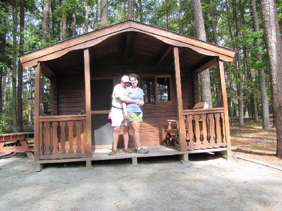 Pocomoke River State Park: Our mini cabin!