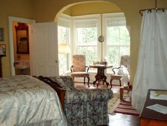 The Magnolia Plantation Bed and Breakfast Inn: Gardenia Bedchamber.  One of the rooms inside the mansion
