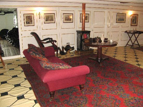HMS Warrior 1860: The officers wardroom.