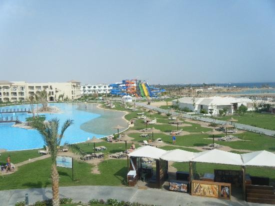 Jaz Aquamarine Resort: View from balcony of sea facing room