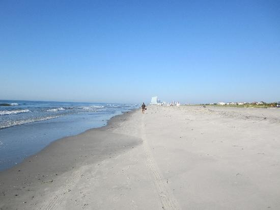 Legacy Vacation Resorts-Brigantine Beach: The beach with AC in the distance