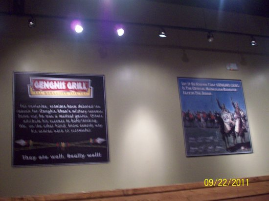 Genghis Grill signage