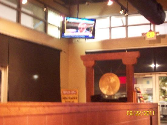 Genghis Grill: at front entrance...Memphis @ Germantown