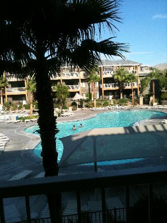 WorldMark Indio: Looking out our balcony