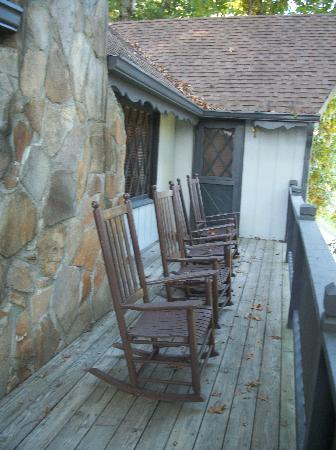 Dillard House: Rocking Chairs on front porch