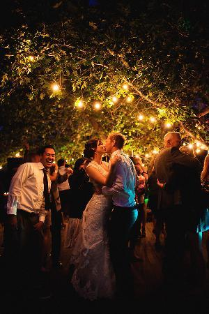Wrightwood Guest Ranch: nice night time ambiance on the dancefloor at night. Photo by john robert woods photography