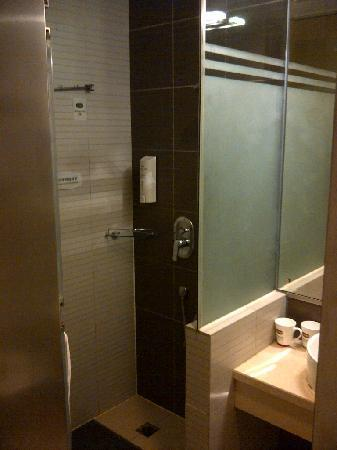 Hanting Hotel Shanghai Nanjing West Road: Shower area (has an overhead shower)