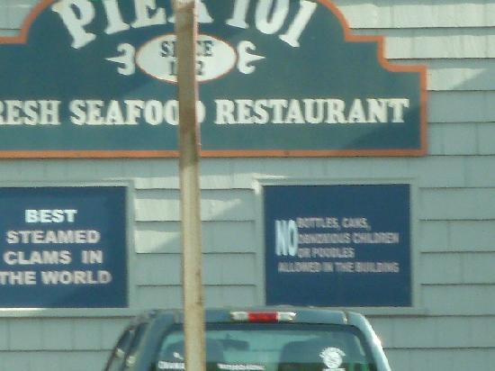 Pier 101: just a drive by today - darn