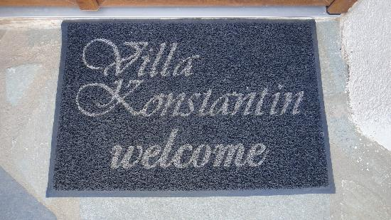 Villa Konstantin: Welcome