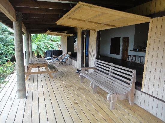 Mystic Sands: The spacious terrace