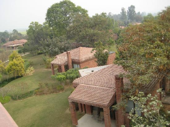 """Westin Sohna Resort and Spa: The cottages, as seen from the """"star-gazing"""" tower"""