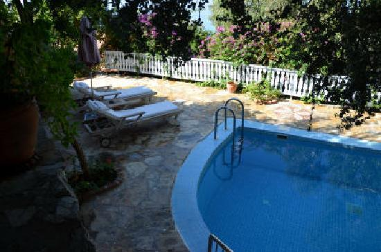 Beyaz Yunus: Room 1 lower terrace and pool