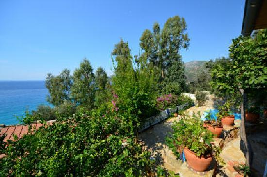Beyaz Yunus Hotel: View from upper terrace
