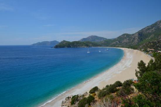 Beyaz Yunus Hotel: View of Oludeniz Beach