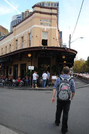 The Australian Heritage Hotel: View from outside