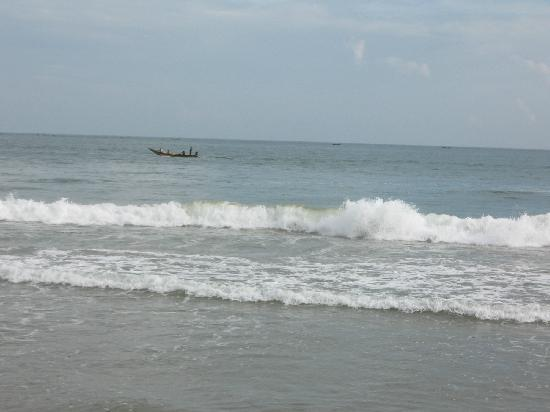 Hotel Shakti International: a boat at a distance