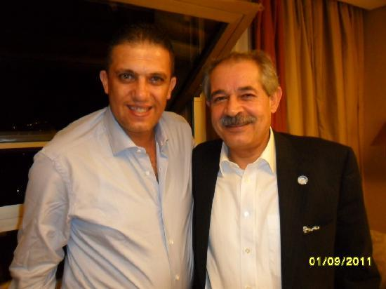 Le Royal Hotel Amman: with tawfiq bargawe ,dear friend and big brother from new jersy
