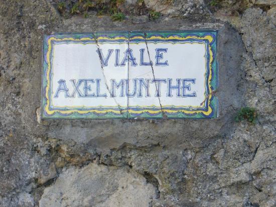 Villa San Michele: Axel Munthe Street