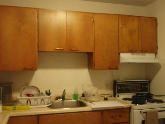 Yellowknife Polar Suite Guest Room: 広々したキッチン。自炊に必要な物が整っています。