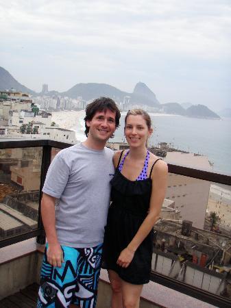 Copacabana Rio Hotel : Vista a la playa de copacabana desde la terraza
