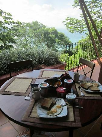 Shelter from the Storm: Breakfast with a view...
