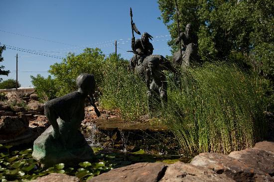 Telling the story of how Wichita Falls got its name, be sure you visit the Wee-Chi-Tah sculpture