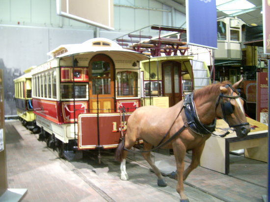Crich Tramway Village: Horse Tram in the Museum
