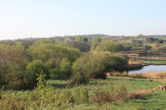 West Bromwich, UK: View of Sandwell Valley from Forge Lane Pool