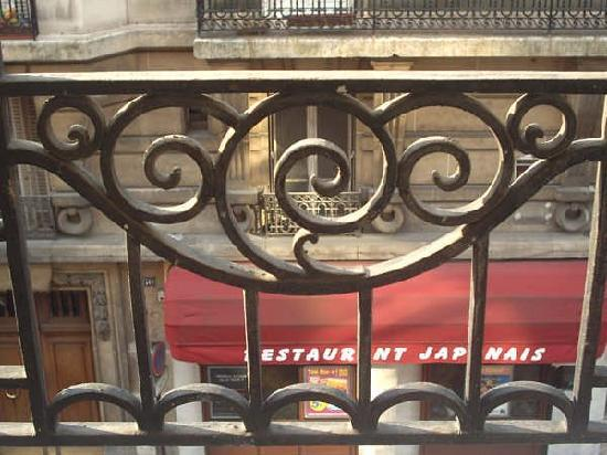 D'Anjou Hotel Paris: Dalla finestra