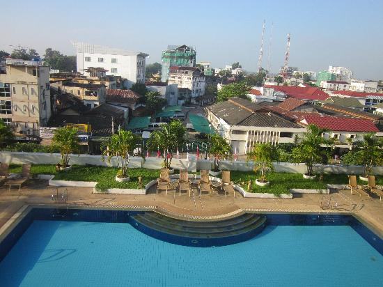 Lao Plaza Hotel: View from the room