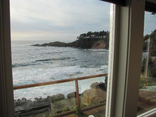 An Ocean Paradise Whales Rendezvous B&B: Our view from inside our suite