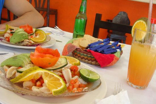 Hotel Playa Kin Ha: Fresh Ceviche