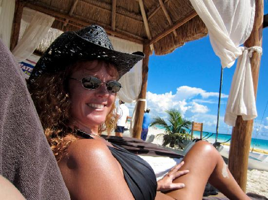 Secrets Maroma Beach Riviera Cancun: My wife getting some rays on the beach