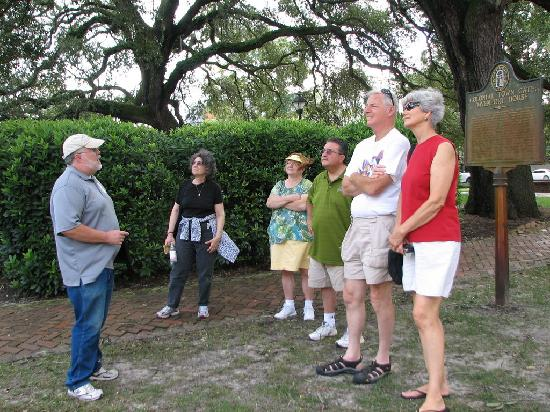 Savannah Rambles: Listening to our guide in one of the squares.