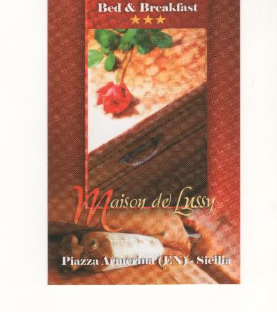 B & B Maison De Lussy: Biglietto da visita