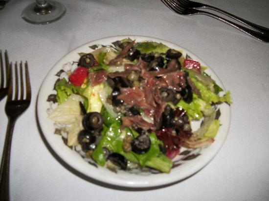 Lusco's: a house salad with anchovies