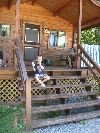 Gettysburg Campground: front porch view.