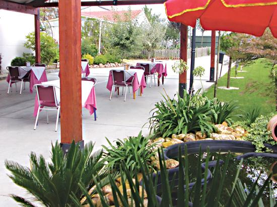 Melide, España: terraza