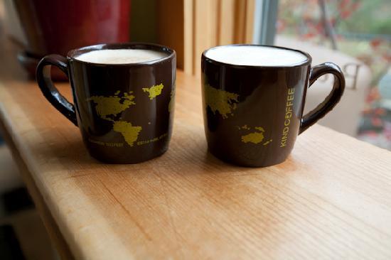 Kind Coffee: A mocha and a chai