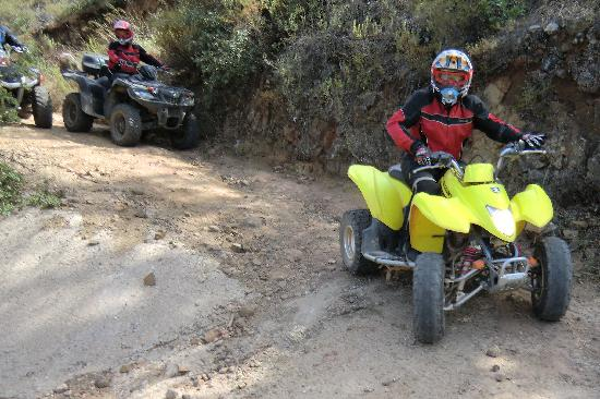 Rooster Quad Tours: Steep inclines.