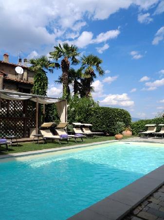 Hotel Villa Sassolini: Pool view