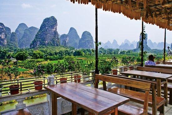 Roof Garden Restaurant Yangshuo County Restaurant