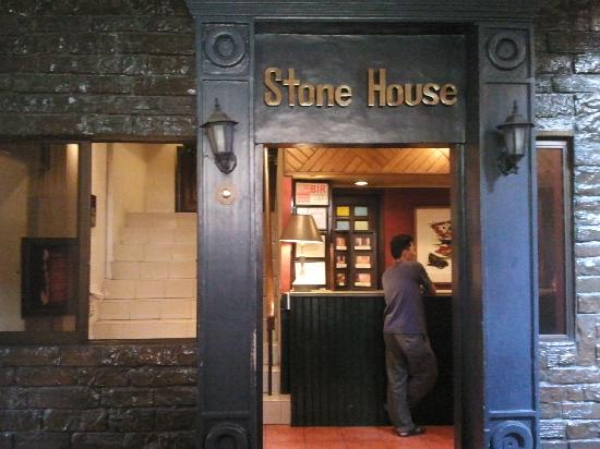 Stone House Quezon City: Main entrance to the place is on the side.