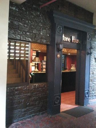 Stone House Quezon City: Main entrance has character.