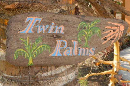 The Inn at Twin Palms: Drift Wood Sign