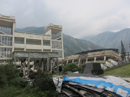 Wenchuan County, China: Remnants of the school