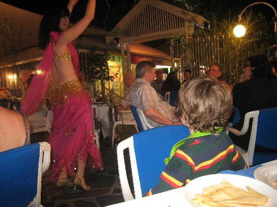 El Greco Greek Taverna: Exotic belly dancer on a Friday night